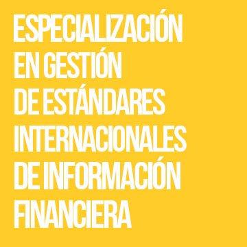 Especialización en Estándares Internacionales de Información Financiera