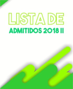Lista de admitidos 2018 II