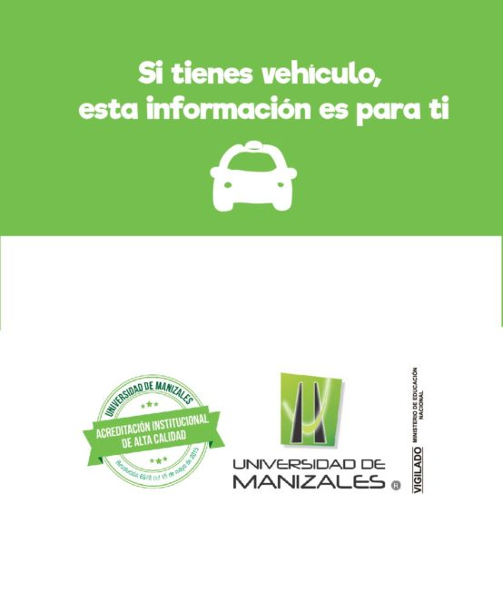 Si tienes vehículo, esta información es para ti