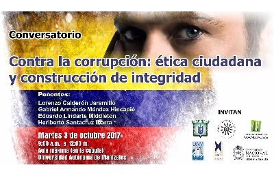 Universidades hablarán sobre corrupción y ética ciudadana