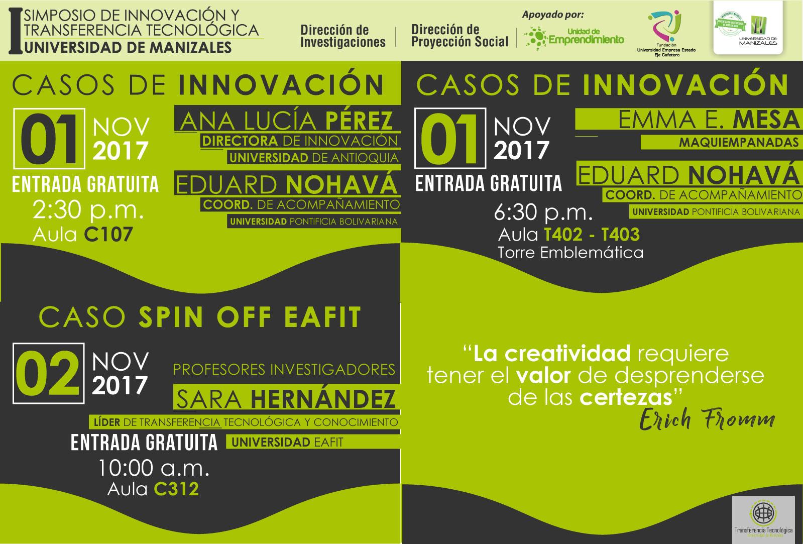 I Simposio de Innovación y Transferencia Tecnológica