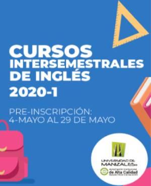 Cursos intersemestrales de inglés 2020-1