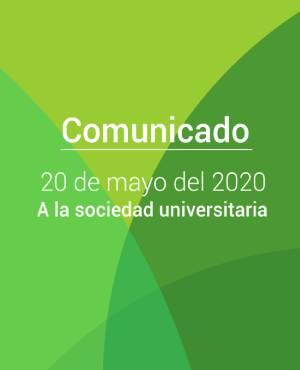 Comunicado 20 de mayo del 2020