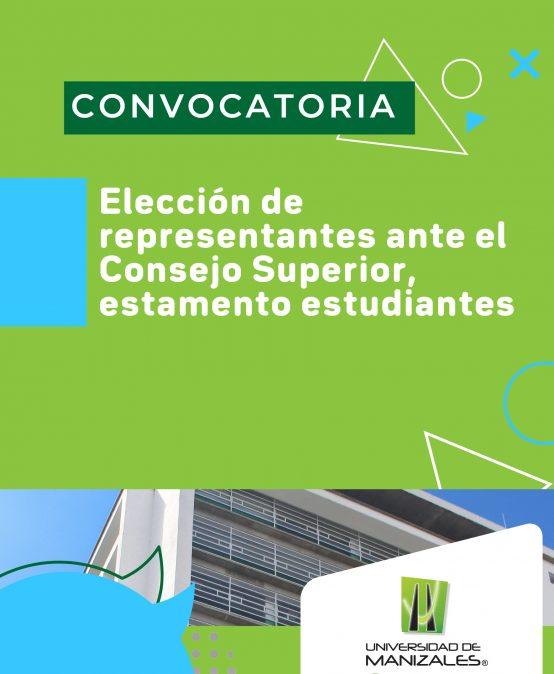 Elección de estudiantes ante el consejo superior