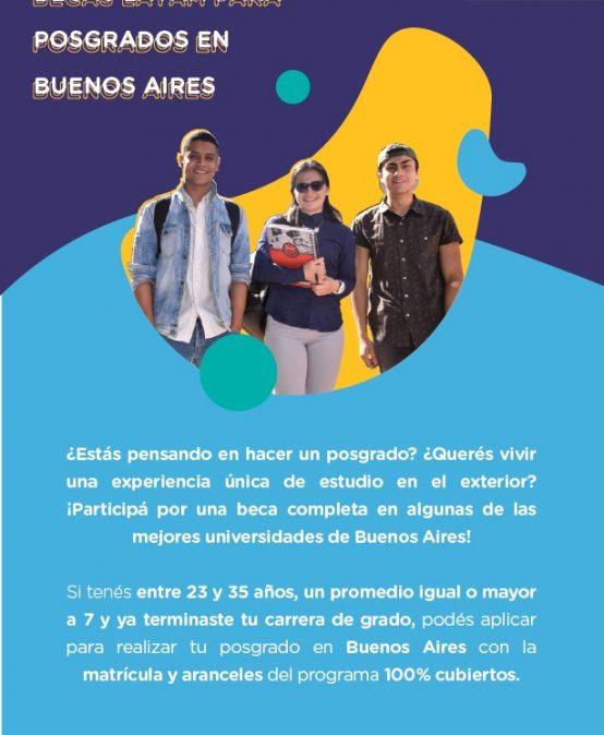 Becas LATAM para posgrados en Buenos Aires