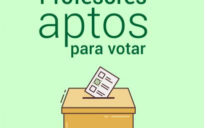 Profesores aptos para votar
