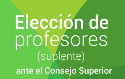 Elección profesores (suplente) ante el Consejo Superior