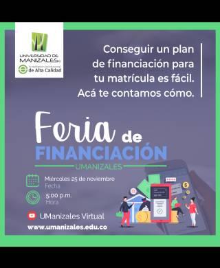 UManizales realizará Feria de Financiación Virtual