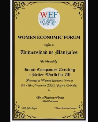 La UManizales gana premio internacional por su aporte a la inclusión de la mujer y la equidad de género