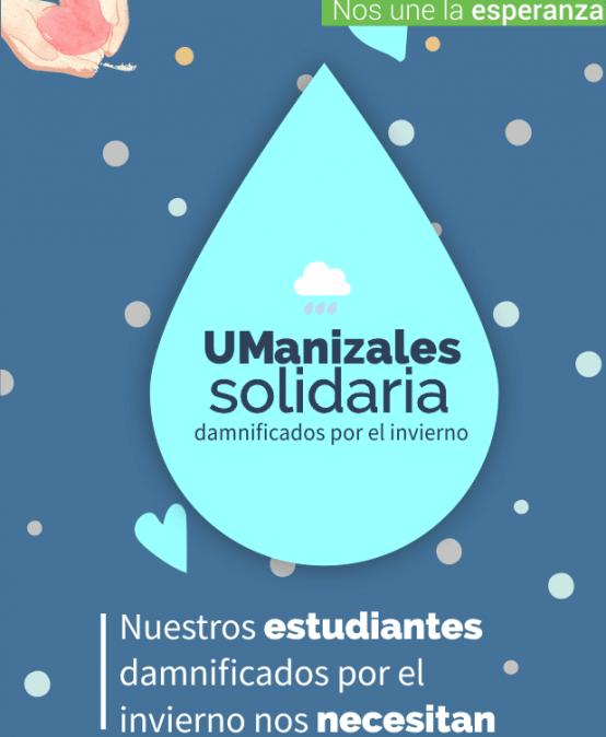 UManizales solidaria, damnificados por el invierno