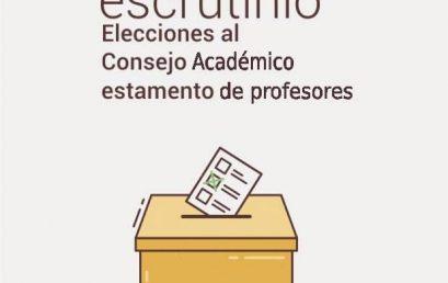 Acta de escrutinio elecciones al Consejo Académico estamento de profesores