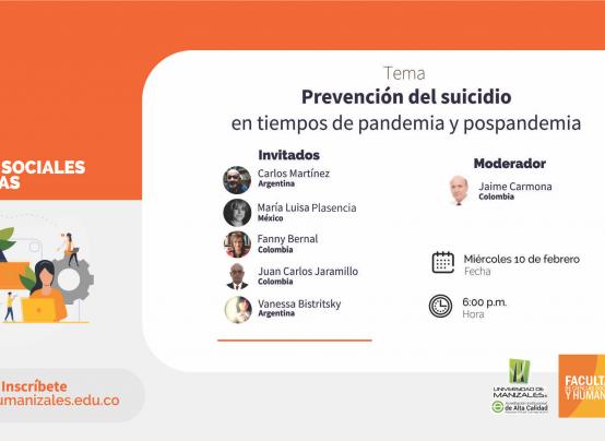 Expertos internacionales hablarán en la Umanizales sobre suicidio en época de pandemia