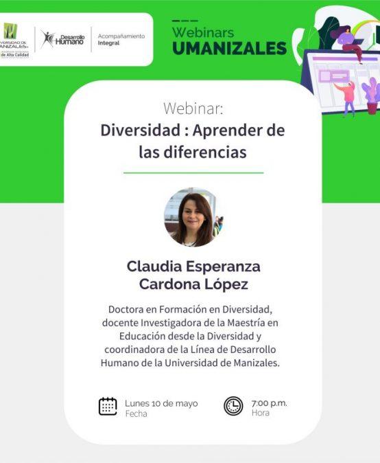 Aprender de las diferencias, un Webinar para resaltar la diversidad