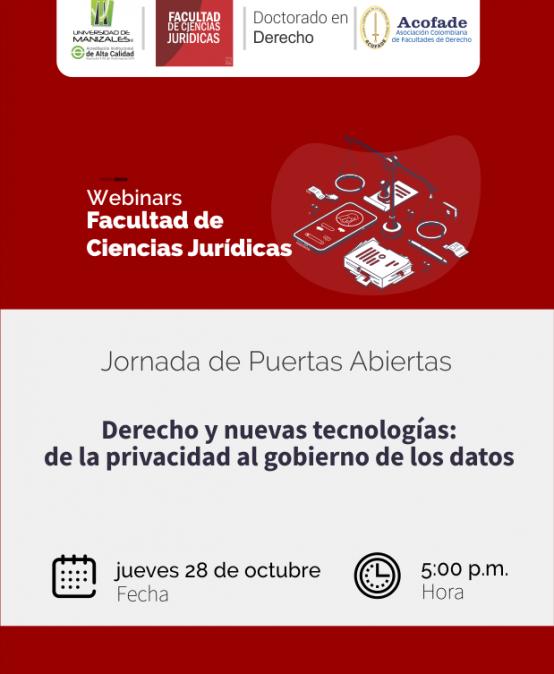 """Jornada de puertas abiertas – """"Derecho y nuevas tecnologías: de la privacidad al gobierno de los datos"""""""